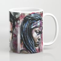 daryl Mugs featuring Daryl Dixon by Jhaiku
