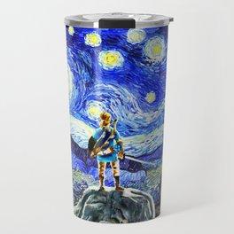 triforce link starry night Travel Mug