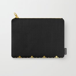 Simple black and gold pattern #society6 Carry-All Pouch