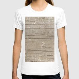 Nautical Driftwood Wood Grain Pattern T-shirt
