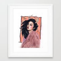 charli xcx Framed Art Prints featuring Charli by The vintage icon