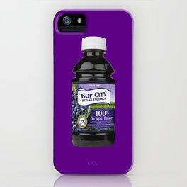 Bop City Grape Juice   Unofficial Terror Jr Merch iPhone Case