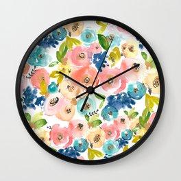 Floral POP #1 Wall Clock