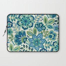 Blue Floral Laptop Sleeve