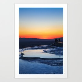 Pamukkale Pools Art Print