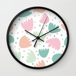 Abstract Pastel Floral Wall Clock