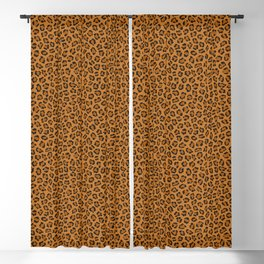 Dark leopard animal print Blackout Curtain