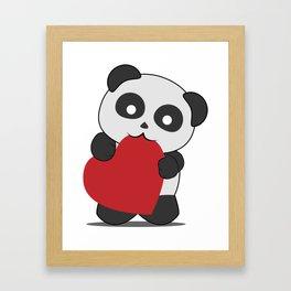 Panda love Framed Art Print