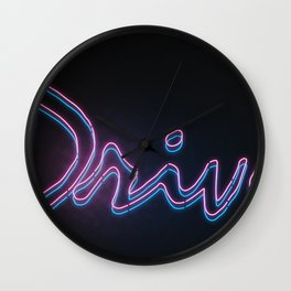 NeonNoir Wall Clock