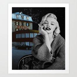 """Hotel Monroe"" Photo Montage Art Print"