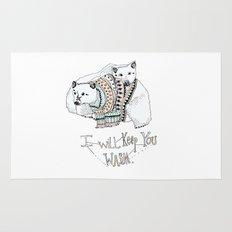 i will keep you warm Rug