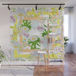 Floral Frame Collage Wall Mural