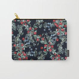 Festive Christmas Berries Pattern Carry-All Pouch