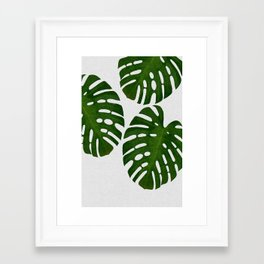 Monstera Leaf III Framed Art Print