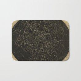 Vintage Astronomy Constellations Star Map Bath Mat