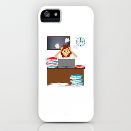 Menopause Woman with Menopause Gift iPhone Case