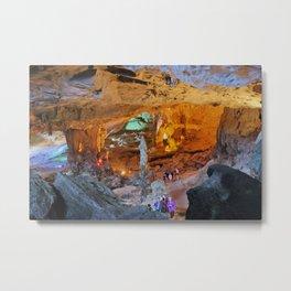 Caves of Halong Bay Metal Print