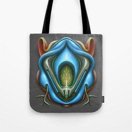 Summer Totem Blue Tote Bag