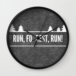 Ru, Fo(r)rest, Run! Wall Clock