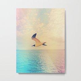 Soaring Seagull Metal Print