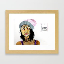Trying to adult it right Framed Art Print