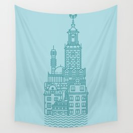 Stockholm (Cities series) Wall Tapestry