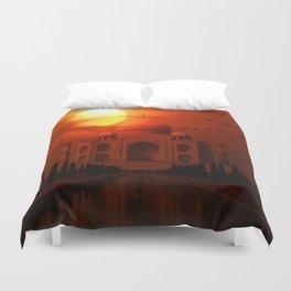 Taj Mahal Sunset Duvet Cover