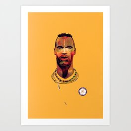 Lucas Radebe Portrait - Leeds United Legend Art Print