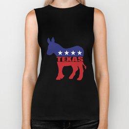 Texas Democrat Donkey Biker Tank