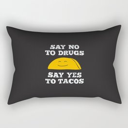 Say Yes To Tacos Rectangular Pillow