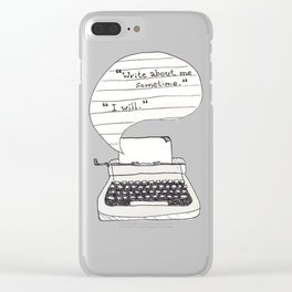 PERKS OF BEING A WALLFLOWER. Clear iPhone Case