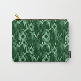 Weaving ikat in green Carry-All Pouch