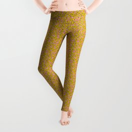 French Fries on Pink Leggings