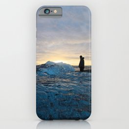 Sunrise at Jokulsarlon Iceberg Diamond Beach in Iceland iPhone Case