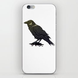 Crow Contemplation iPhone Skin