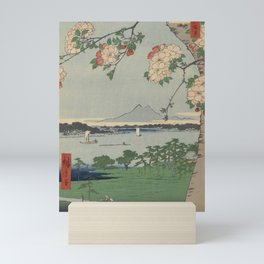 Cherry Blossoms on Spring River Ukiyo-e Japanese Art Mini Art Print