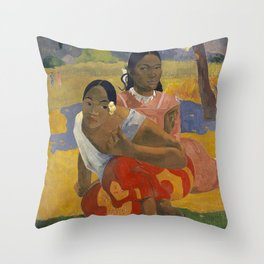 Paul Gauguin -  Nafea Faa Ipoipo (When Will You Marry?) Throw Pillow