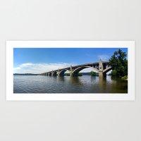 Wrightsville Columbia Memorial Bridge Art Print