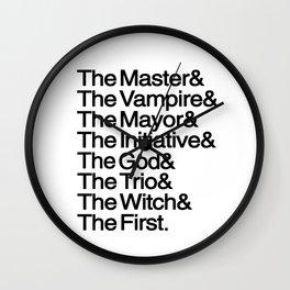 The Big Bads Wall Clock
