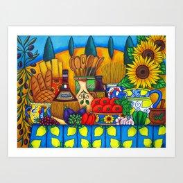 Tuscany Delights Art Print