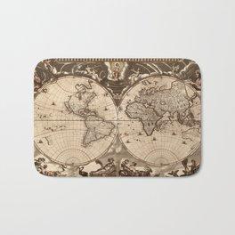 World Map 1665 Bath Mat