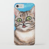 lil bub iPhone & iPod Cases featuring Lil Bub - Cats with Moustaches by Megan Mars