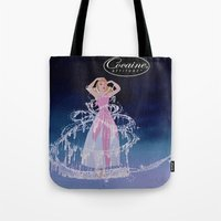 cocaine Tote Bags featuring Cinderella Cocaine Attitude by Trash Apparel