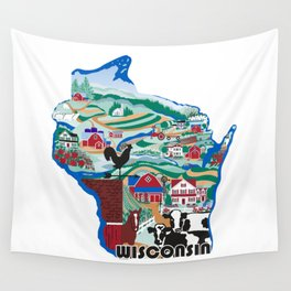 Wisconsin Country Sampler Wall Tapestry