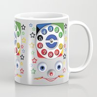 cartoons Mugs featuring Retro Vintage smiley kids Toys Dial Phone iPhone 4 4s 5 5s 5c, ipod, ipad, pillow case and tshirt by Three Second