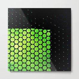 Green grid Metal Print