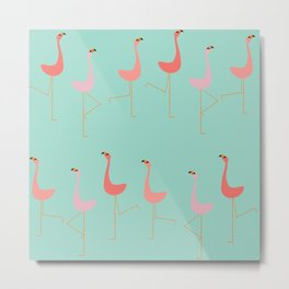 MARCH OF THE FLAMINGOS Metal Print