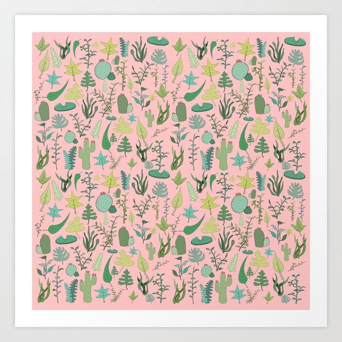 Nature Pink Art Print