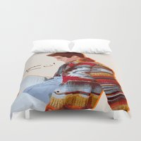 darren criss Duvet Covers featuring Darren for Hero by byebyesally