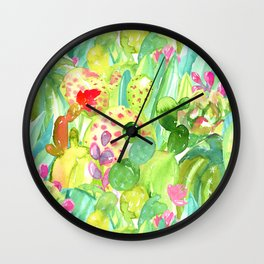 Lush Cacti Jungle Wall Clock